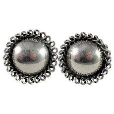 Gertrud Engel, Sweden Mid Century Sterling Silver Earrings.