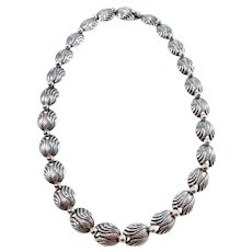 Niels Erik From, Denmark Mid Century Sterling Silver Necklace.