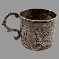 Alderman Fyodor Petrov, Russia 1759-74 Georgian Solid Silver Vodka Cup.