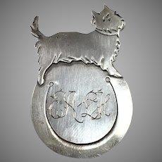 Hugo Grün & Co, Finland year 1934 Solid 813 Silver Dog Bookmark.