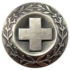 Sporrong, Sweden Vintage 1979 Sterling Silver Nurse Badge Brooch.