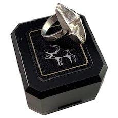 Matti Hyvärinen Finland 1979 Sterling Silver Adjustable Size Ring. In Original Box. Signed