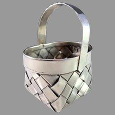 Cartier Vintage Sterling Silver Hand Woven Basket.