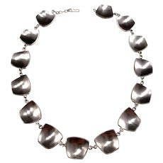 Rey Urban, Sweden year 1956 Sterling Silver Necklace. Early. Signed. 2.6oz