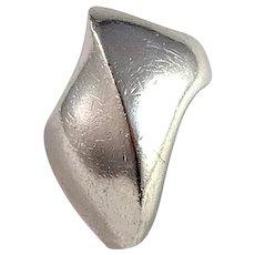 Nanna Ditzel for Georg Jensen, Denmark 1960s Sterling Silver Chunky Ring. Design no 91