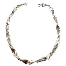 "Georg Jensen, designer Edvard Kindt-Larsen Denmark Mid Century Sterling Silver Necklace. 104A ""Butterfly"""