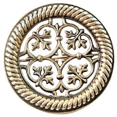 Kalevala Koru, Finland 1966 Sterling Silver Traditional Brooch.