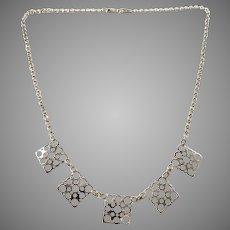 Liisa Vitali for Kultakeskus, Finland Vintage Sterling Silver Necklace.