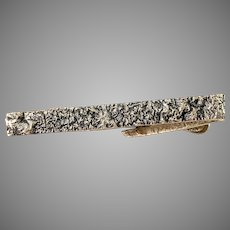 Torun Hopea, Finland 1966 Modernist Solid Silver Tie-Clip