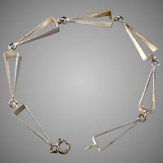 Maker UH, Finland Vintage Sterling Silver Bracelet.