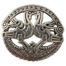 Kalevala Koru, Finland Vintage Sterling Silver Brooch.