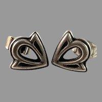 Kalevala Koru, Finland Vintage Sterling Stud Earrings.