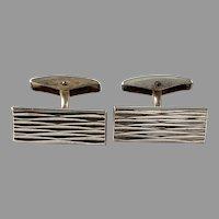 LA Oy, Finland 1965 Solid Silver Cufflinks