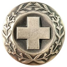 Sporrong, Sweden Vintage 1972 Sterling Silver Nurse Badge Brooch.