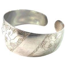 Poznan, Poland Vintage Sterling Silver Cuff Bracelet.