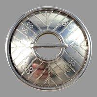 WIA, Finland Vintage Solid 830 Silver Traditional Shield Brooch.