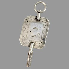 Carl Gustaf Hjulström, Sweden 1843 Antique Solid Silver Watch Key Pendant.