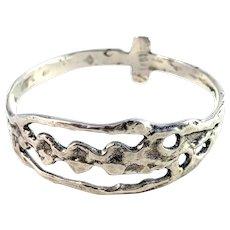 Scandinavia Vintage Sterling Silver Viking Copy Bangle Bracelet.