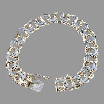 Silvos, Sweden 1969 Vintage Sterling Silver Bismark Unisex Bracelet.