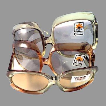 Vintage 1960-70s Italian Bold Sunglasses. 3 Pair. Never Used.