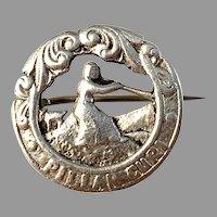 Norway Antique Early 1900s Solid 830 Silver Pillar Guri Brooch