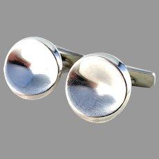 Georg Jensen, Nanna Ditzel c 1960 Large Sterling Silver Cufflinks. Design 74b