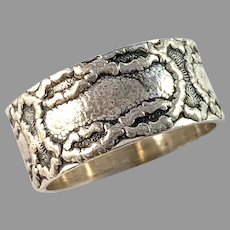 ASd, Finland 1978 Vintage Sterling Silver Love Knot Ring.
