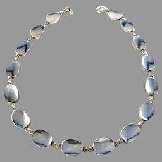 Arvo Saarela, Sweden 1964 Massive 2.46oz Sterling Silver Necklace.