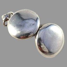 Sweden c year 1900 Antique Solid Silver Locket Pendant.
