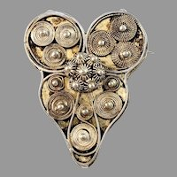 Nils Smedman, Sweden 1810-45 Georgian Solid Silver Traditional Brooch.