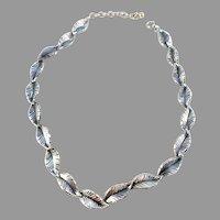Teka, Theodor Klotz,  Germany 1950s Solid 835 Silver Necklace.