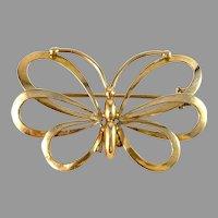Kaplan, Stockholm 1942 War-Time 18k Gold Butterfly Brooch.