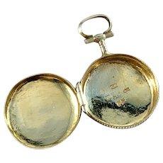 Gustaf Wilhelm Nordström, Sweden 1861 Antique Victorian Solid Silver Locket Pendant.