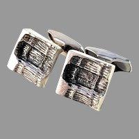Martti Viikinniemi, Finland 1971 Modernist Sold Silver Cufflinks