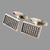 Turun Hopea Finland 1966 Vintage Solid Silver Pair of Cufflinks.