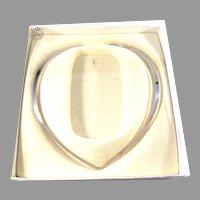David Andersen, Norway Vintage Sterling Silver Torque Necklace.
