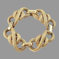 Filippini Brothers, Verona Italy 1950s. Massive 2.0oz / 57 Gram 18k Gold Bracelet.