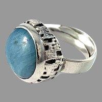 Wiktorsson, Sweden 1960s. Sterling Silver Bergslagen-Stone Ring.