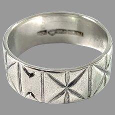 Bengt O. Lilja Finland 1966 Sterling Silver Unisex Ring.