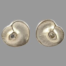 Finnfeelings, Finland. Vintage Sterling Silver Eye Of The Soul Stud Earrings.