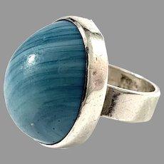 Hillebrant Boström, Sweden 1971. Vintage Sterling Silver Bergslagen-stone Ring.