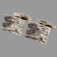 Alpo Tammi, Finland 1973. Modernist Solid Silver Cufflinks.