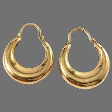 Sweden Mid Century 18k Gold Earrings.