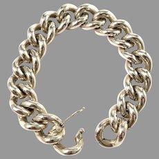 Poland 1960-70s Massive 3.6oz Solid Silver Bracelet.