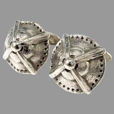 Bernhard Hertz, Sweden year 1911. Antique Pair of Silver Cufflinks.