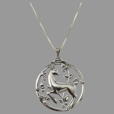 G Dahlgren, Sweden 1948. Sterling Silver Pendant Necklace.