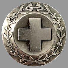 Sporrong, Sweden Vintage 1969 Sterling Silver Nurse Badge Brooch.