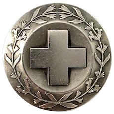 Sporrong, Sweden Vintage 1969 Sterling Silver Nurse Badge Brooch.