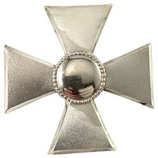 Ceson, Sweden 1944. WW2 Era Sterling Silver Nurse Badge Brooch