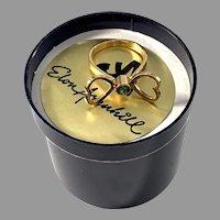 Elon Arenhill, Sweden 1977. Vintage 18k Gold Emerald Heart Ring. Boxed. Signed.